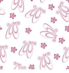Ballet shoes pattern vector image