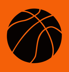 Basketball ball design logo mark brand black vector
