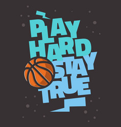 Basketball themed slogan t shirt print design vector