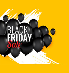 black friday balloon background for sale and vector image