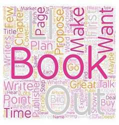 Book Proposals 101 What Publishers Want text vector