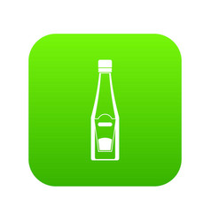 bottle of ketchup icon digital green vector image