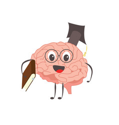 brain charactersathlete learning knowledge vector image