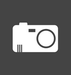 camera icon on black background flat vector image