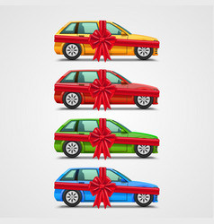 Car gift color set template design element vector