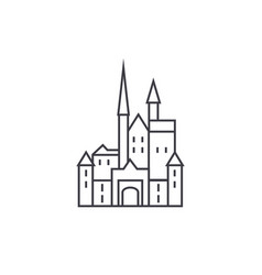 castle in germany line icon sign vector image