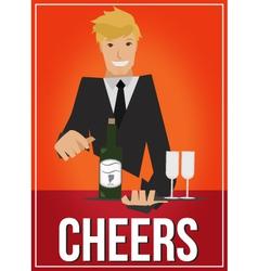 cheers vector image