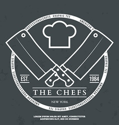 Chefs Vintage T-shirt graphics print vector