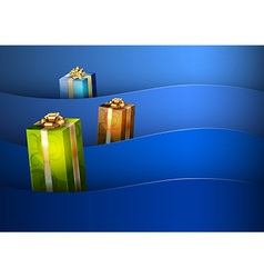Christmas background blue stripe wave vector