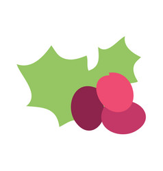 Christmas grape icon vector