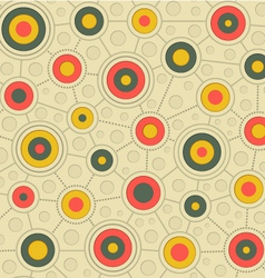 circular pattern in retro colors gray yellow pink vector image