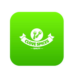 clove spice icon green vector image