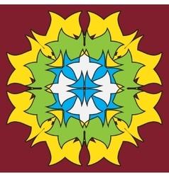 Colored symmetrical mandala - flower shape vector