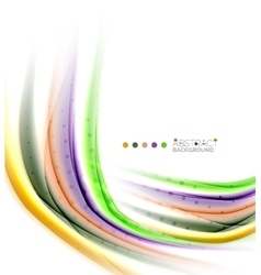 Colorful blurred stripes abstract background vector