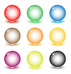 Coloured spheres vector