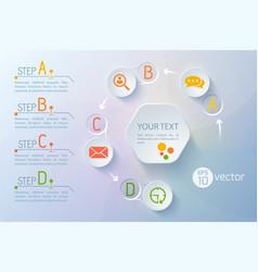 Communication flowchart conceptual background vector