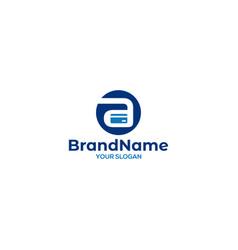 Credit card in letter a logo design vector