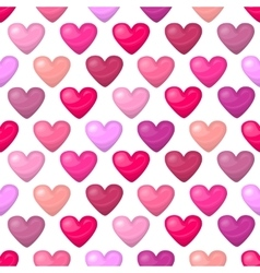 Cute shiny seamless heart pattern isolated on vector