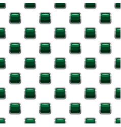 Dark green square button pattern vector