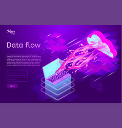 Data flow design concept isometric vector