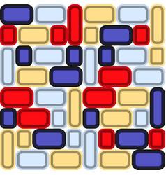 decorative background of multicolored bright glass vector image