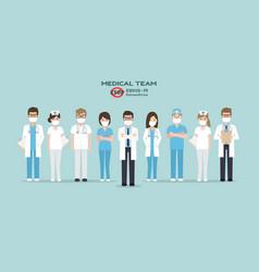 Doctors nurses and medical staff vector