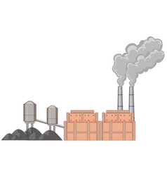 Factory building with smoke vector