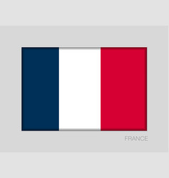 Flag of france national ensign aspect ratio 2 to vector