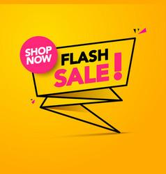 flash sale shop now lighting banner design vector image