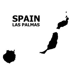 Flat map las palmas province with vector