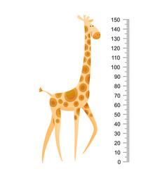 funny giraffe cheerful giraffe with long vector image