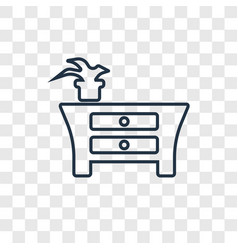 furniture concept linear icon isolated on vector image