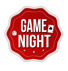 Game night label or sticker vector