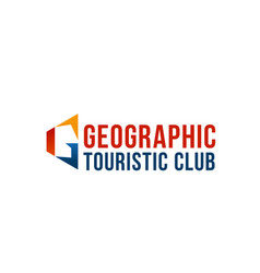 geaographic touristic club emblem vector image