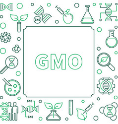 gmo square simple concept linear frame vector image