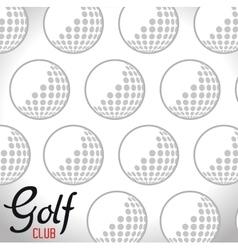 golf club ball icon vector image