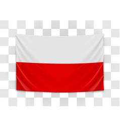 hanging flag poland republic poland polish vector image