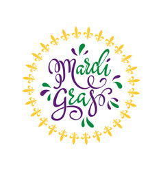 happy mardi gras greeting card vector image