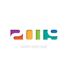happy new year 2019 greeting card or business vector image