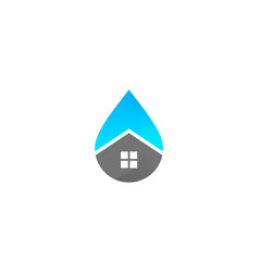 home water logo icon design vector image