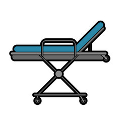 hospital bed or gurney healthcare related icon vector image