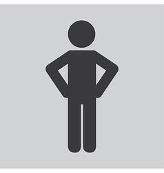 Human silhouette design vector