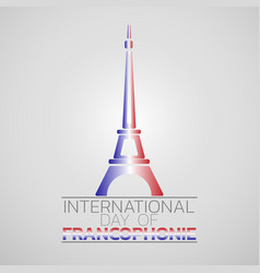 international day of francophonie logo icon design vector image