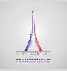 international day of francophonie logo icon design vector image