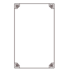 isolated frame vector image