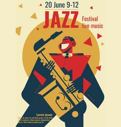 Jazz music festival poster vector