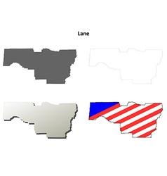 Lane Map Icon Set vector