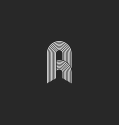 Letter a or r logo monogram the initial of smooth vector