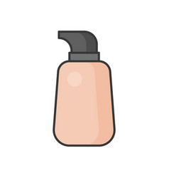 Liquid foundation filled outline icon vector
