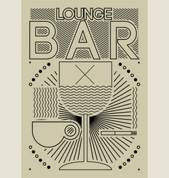Lounge bar menu geometric pattern design vector